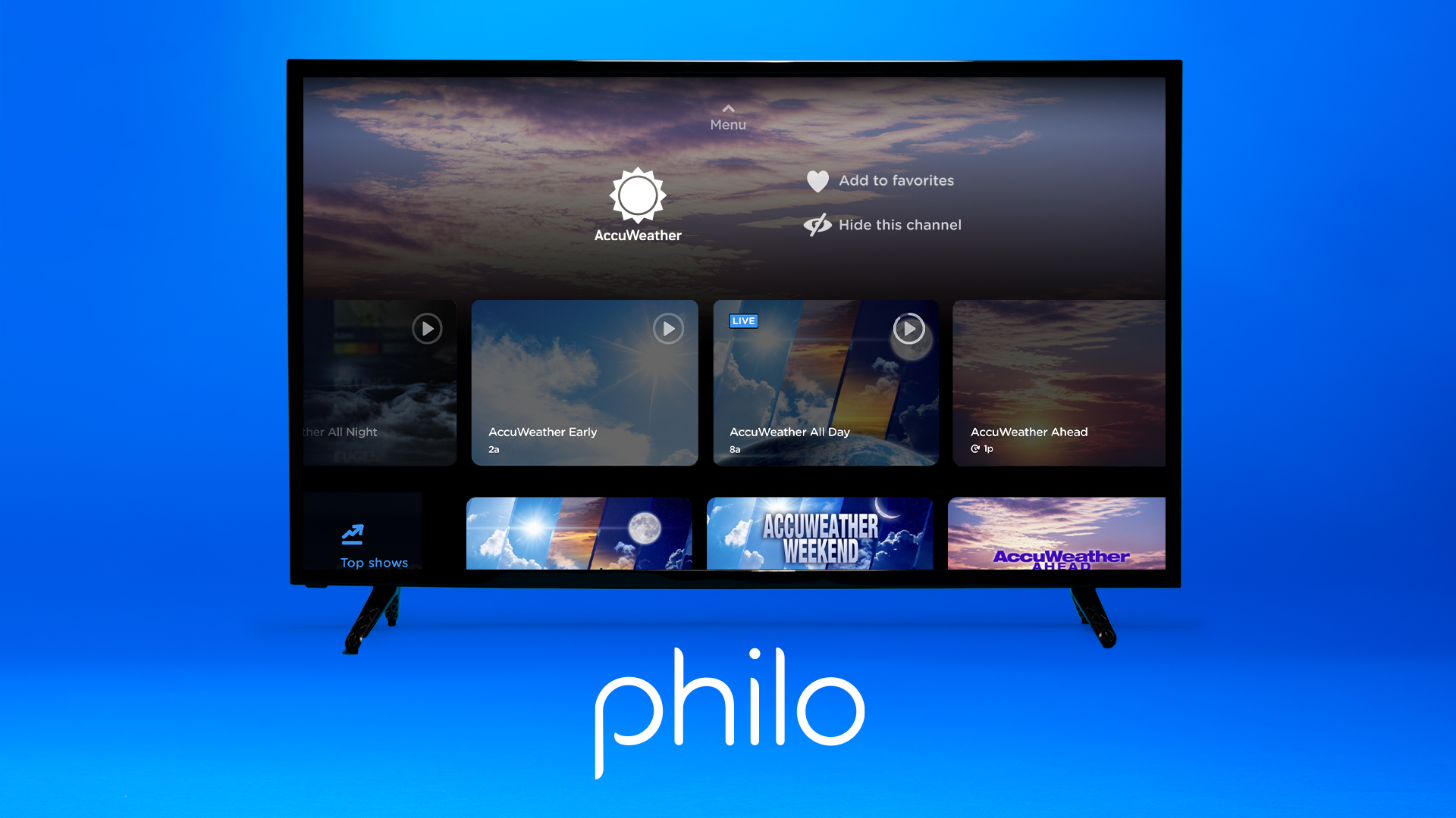 Philo Adds AccuWeather to Lineup